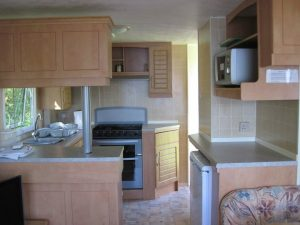 Sunnybrae Caravan Park,Kitchen-Oban-Isle Of Luing-Accommodation-Caravan Parks and Hostels-Self Catering-Scotland
