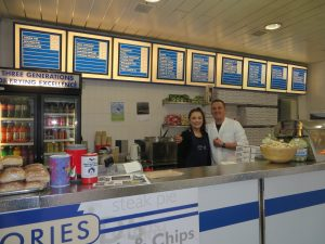 Nories Fish & Chips,Service Counter-Oban-Where To Eat Restaurants & Cafes-Scotland