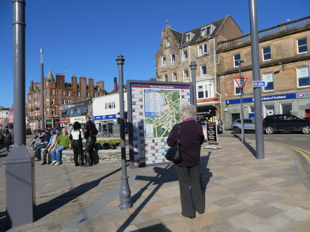 Region-Oban Centre-Information Map Board-Oban-Scotland