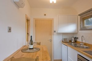 Fully equipped kitchen in the Argyll, Highfield Holidays,Oban Scotland